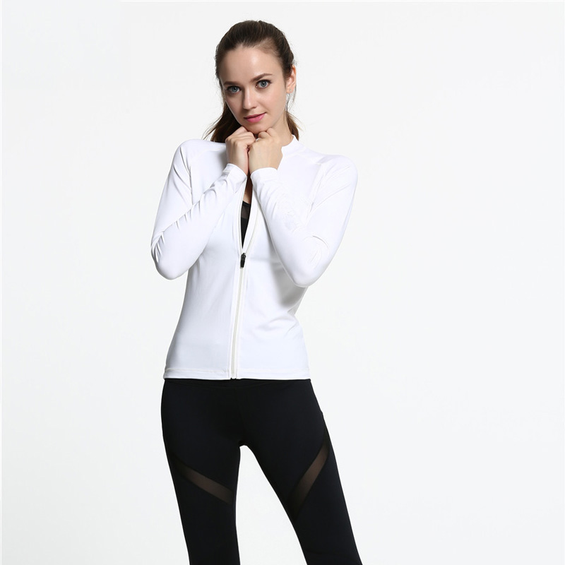 Ecoach China sportswear manufacturers pure Color Stand Collar Zip sports jacket without hood oem sportswear woman sportwear